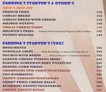 Pop Tate's Menu