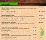 Quetzal Cafe Menu