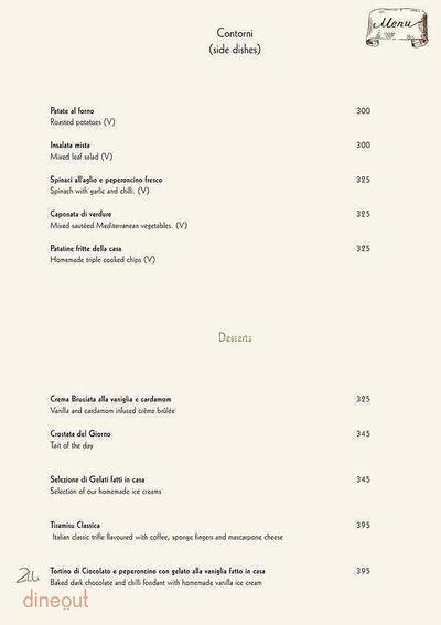 Zerruco Kitchen And Bar - The Ashok Menu 13