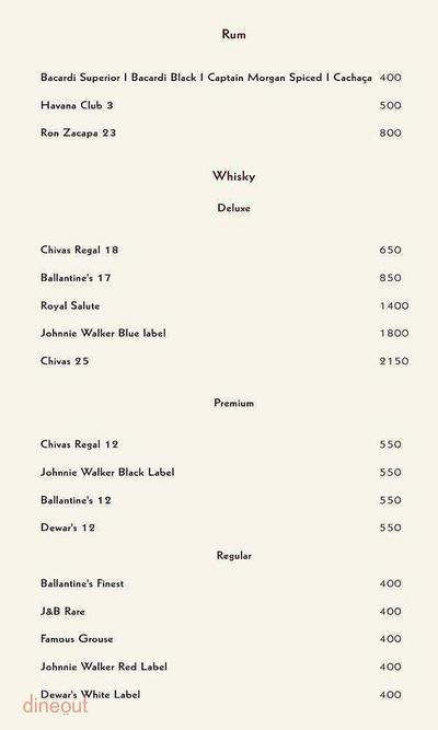 Zerruco Kitchen And Bar - The Ashok Menu 10