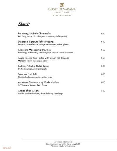 Kiyan - The Roseate  Menu 5