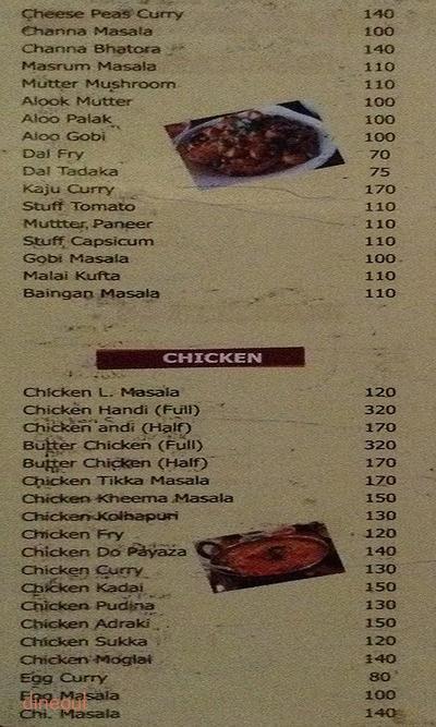 Chandani Bar And Restaurant Menu