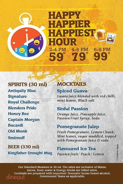 Toss Sports Lounge Menu 1