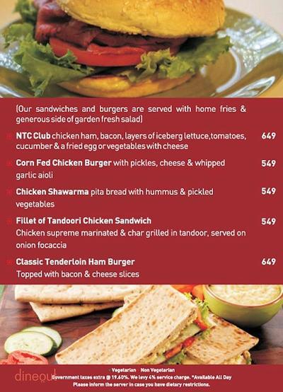 New Town Cafe - Park Plaza Noida Menu 3