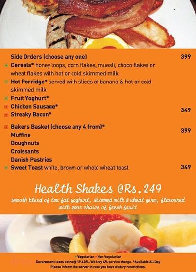 New Town Cafe - Park Plaza Noida Menu 2