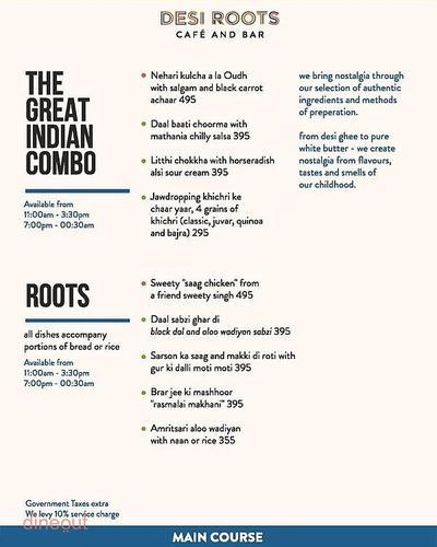 Desi Roots Menu 2
