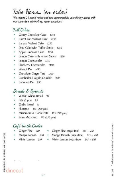 Cafe Turtle Menu 13
