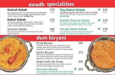 Kitchen of Awadh Menu