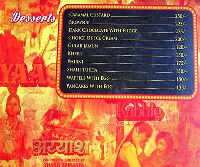 Mumbai Matinee Menu 17