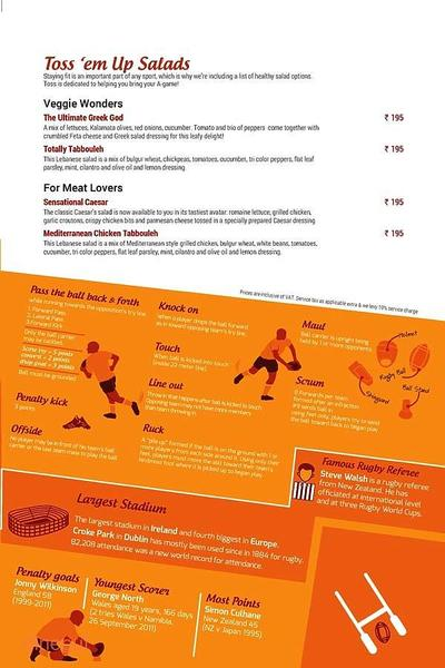 Toss Sports Lounge Menu 8