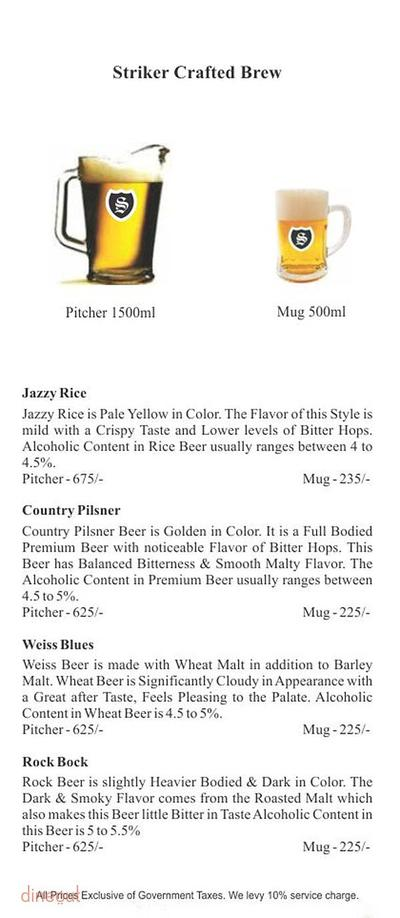 Striker Pub & Brewery Menu 3