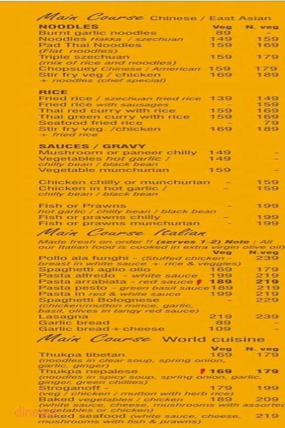 By The Tree Cafe Menu 2