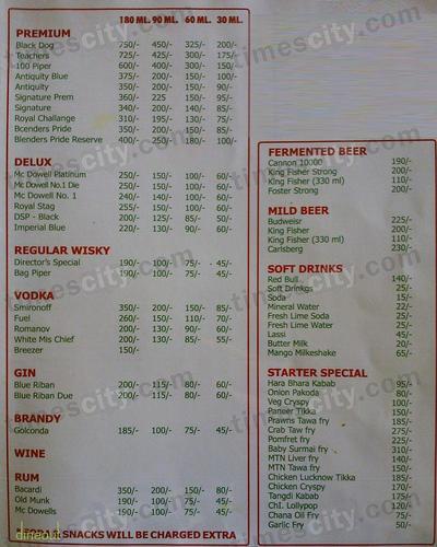 Banjara Bar & Restaurant Menu 3