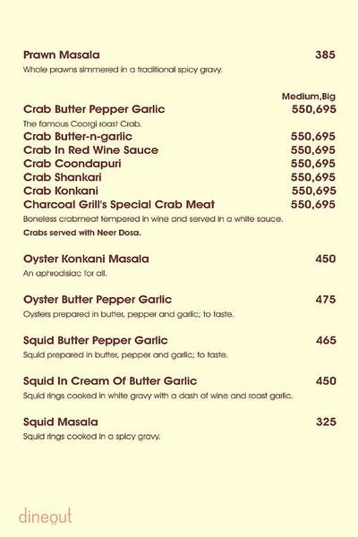 Charcoal Grill Menu 11
