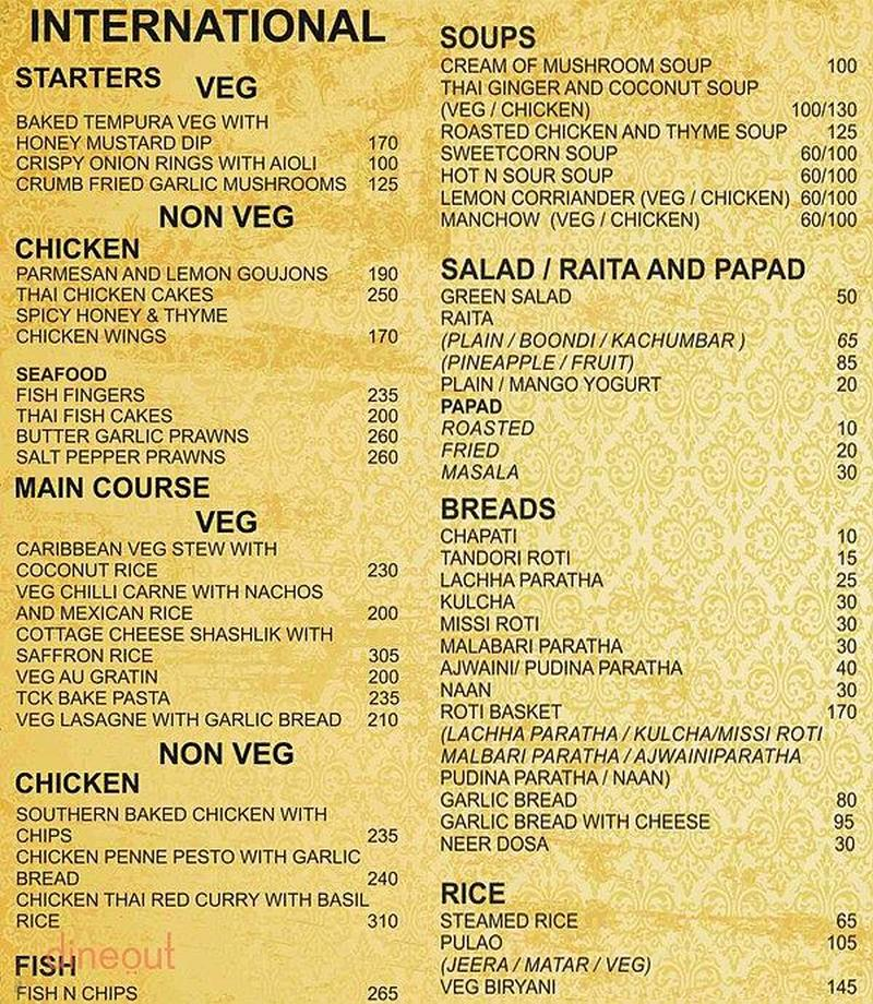 Menu of The Central Kitchen, Sion, Mumbai | Dineout discovery