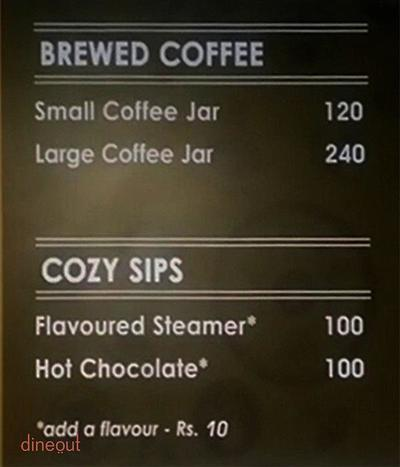 Coffee Jar Menu 1