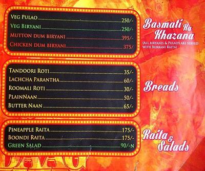 Mumbai Matinee Menu 11
