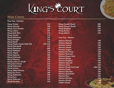 King's Court Menu 4