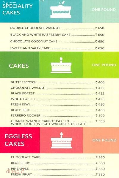 Cakes N More - Seasons Apartment Hotel Menu