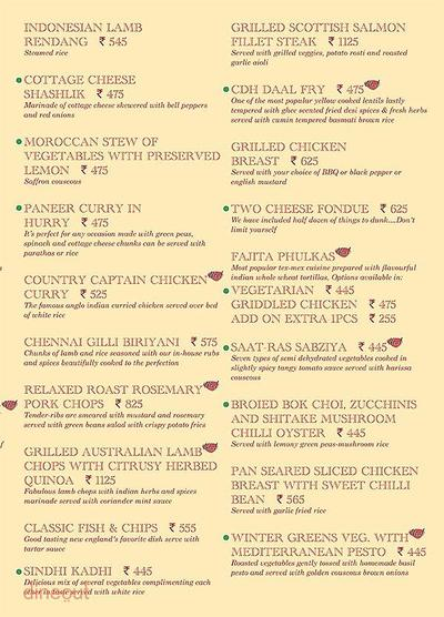 Cafe Delhi Heights Menu 13