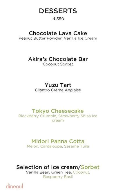 Akira Back - JW Marriott Hotel Menu 14