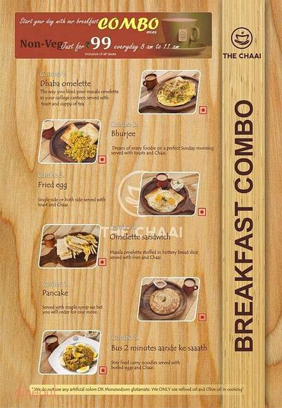 The Chaai Menu