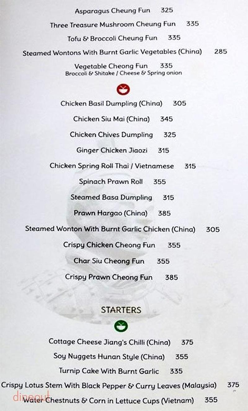 Menu of china bistro jubilee hills hyderabad dineout for 13th floor bangalore candle light dinner