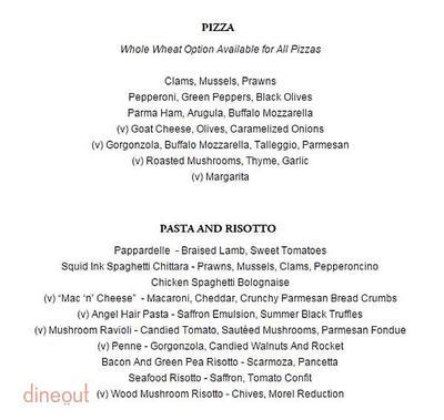 Cafe Prato - Four Seasons Menu 4