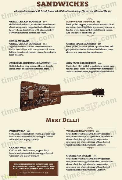 Hard Rock Cafe Menu 6