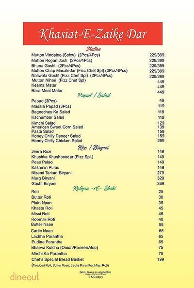 The Fizz Restaurant Bar & Lounge Menu 3