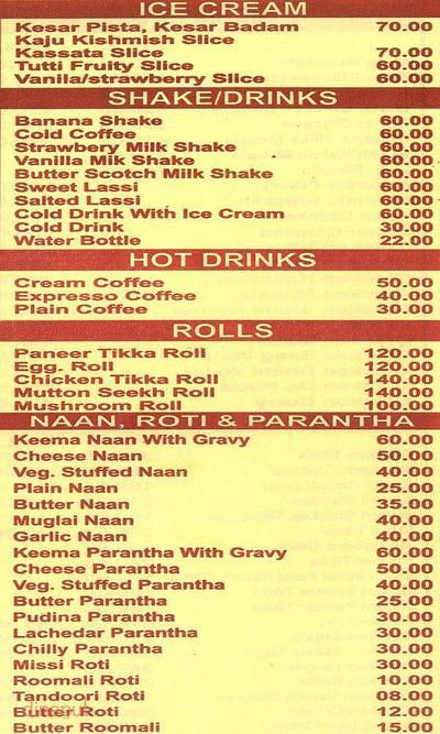New Vikrant Restaurant Menu 4