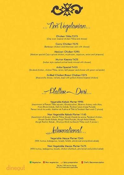Ardor 2.1 Restaurant & Lounge Menu 9