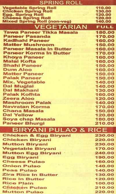New Vikrant Restaurant Menu 3