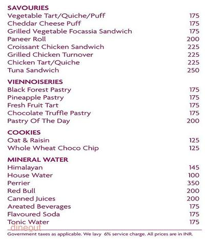 French Heart - The Pastry Lounge - Crowne Plaza Today New Delhi Okhla Menu 2