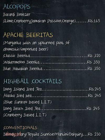 Apache - The Fluid Lounge Menu 6