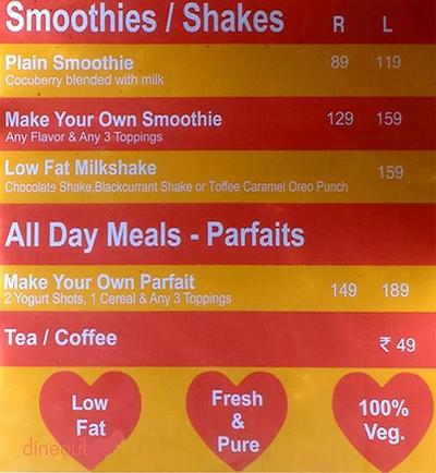 Cocoberry Menu 1