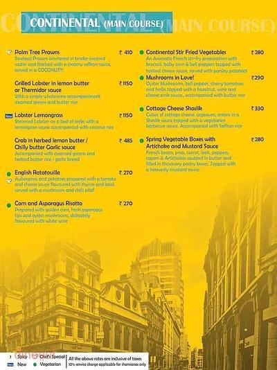 11 East Street Cafe Menu 7