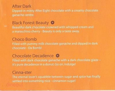Mad Over Donuts Menu