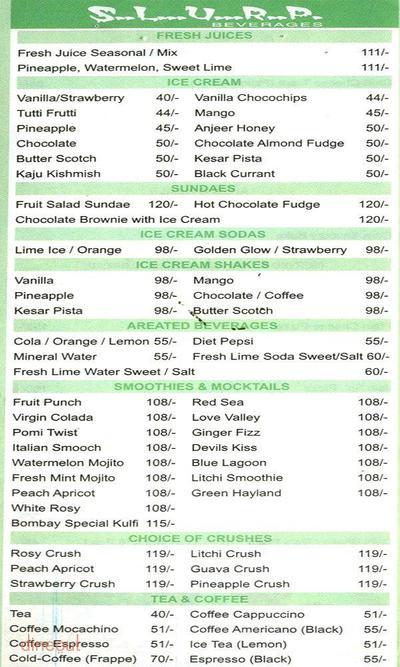Shudh Vegetarian Food Court Menu 2