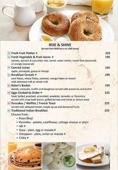 New Town Cafe - Park Plaza Gurgaon Menu 2