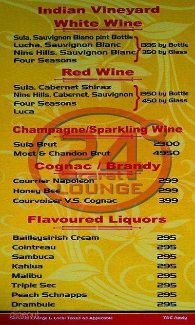 24 Carat Lounge Menu 15