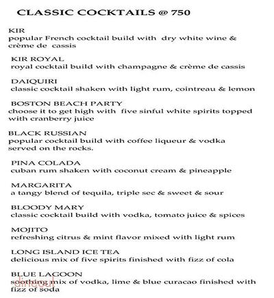 Onyx Bar - The Royal Plaza Menu 12