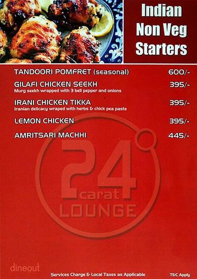24 Carat Lounge Menu 3