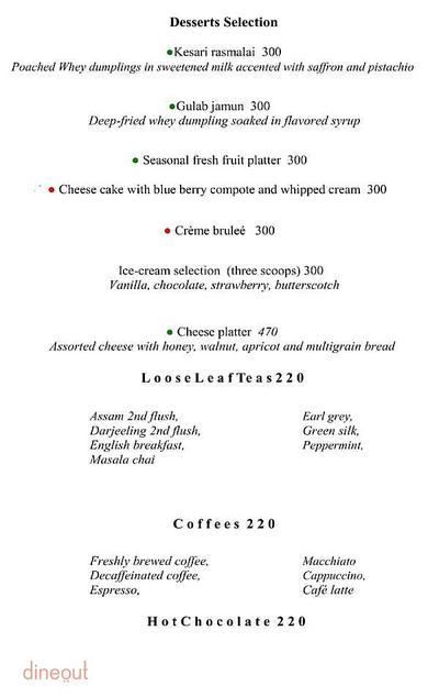 The Cafe - Hyatt Regency Pune Menu 4