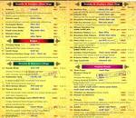 96 K Select Maratha Restaurant Menu