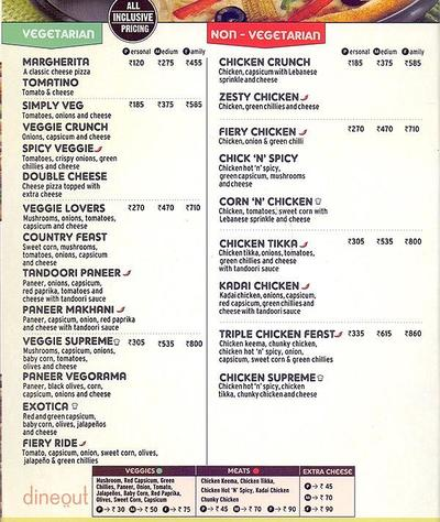 Pizza Hut Menu 2