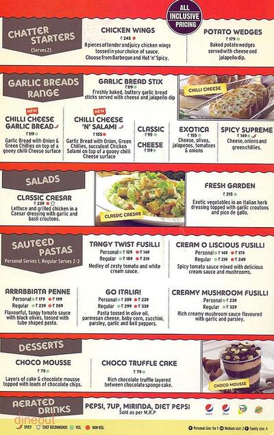 Pizza Hut Menu 4