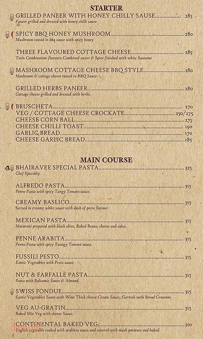 Bhairavee Pure Veg Restaurant Menu 7