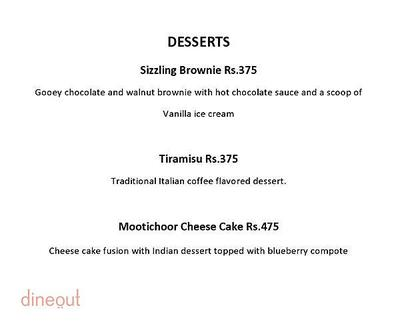 Alfresco - Courtyard By Marriott Menu 4