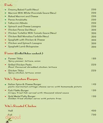 Pizza Vito Menu 2